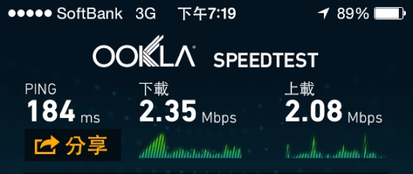 Jap 3G Speed Test 6
